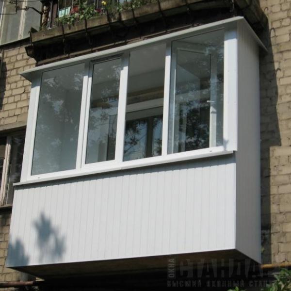 Остекление балконов алюминиевым профилем в москве по выгодны.